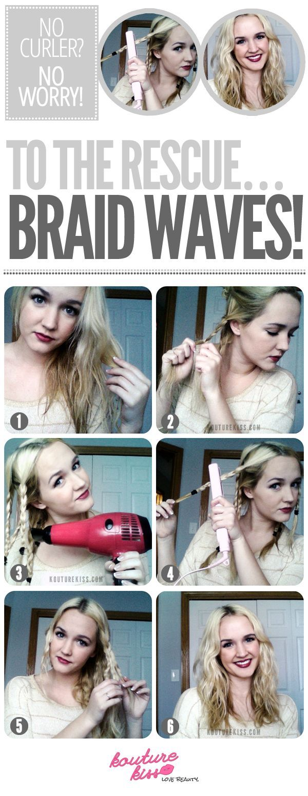 I do this to make my hair wavy and not curley (likeit is naturally)...No Curler, No Worry! Braid Waves To The Rescue!