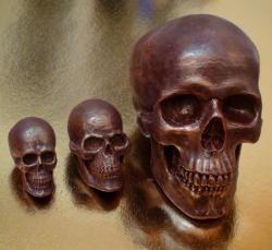 Шоколадные скульптуры ЧЕРЕП ИЗ ШОКОЛАДА 3D
