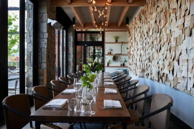 Design Dish: Basalt Napa | California Home + Design The wall installation of turn-of-the-century time punch cards was designed collaboratively with SF studio Antlre as a play on the value of time.