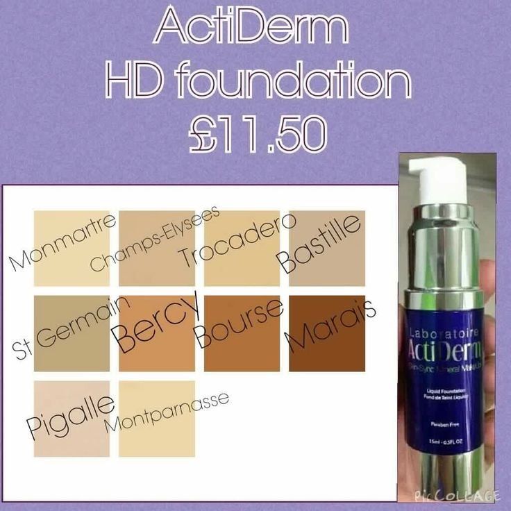 High Definition Liquid Foundation HD Liquid effortlessly covers uneven skin tone, blemishes and redness. Full coverage, acne taming formula to perfect and protect skin. Great for all skin types. Key Ingredients :Green Tea, Calendula, Chamomile, Cornflower, Linden, Vitamin E and St. John's Wort. http://www.actiderm.co.uk/me/angela-jones http://www.actiderm.co.uk/me/angela-jones/face/hd-liquid-foundation/