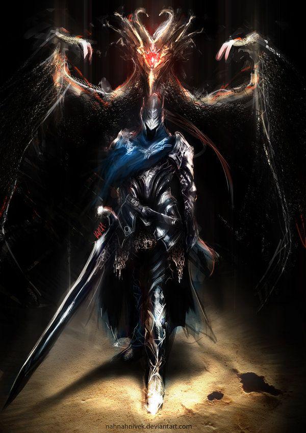 Just some excellent Dark Souls art. art-dark-souls-games-warrior-835614.jpeg…