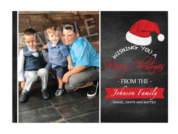 Excited to share the latest addition to my #etsy shop: Personalized Christmas Card