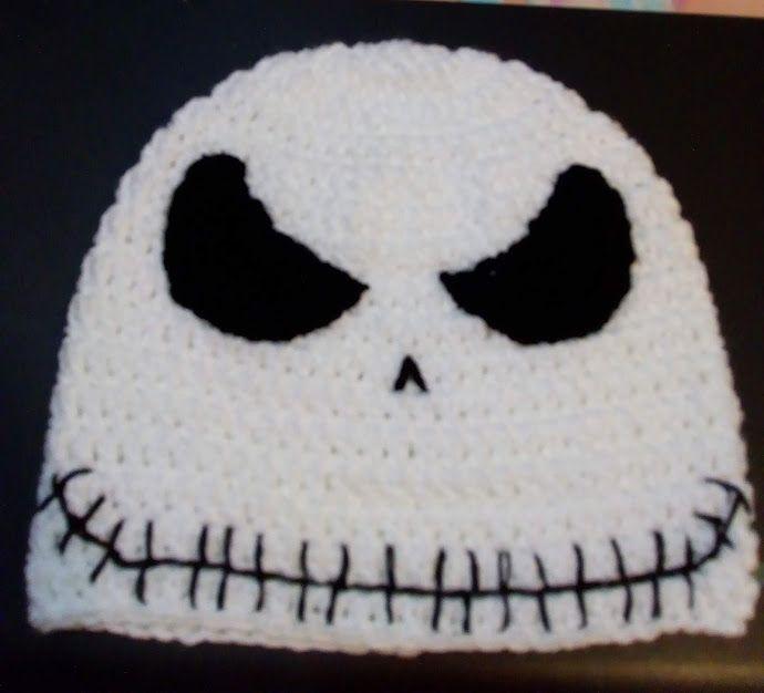 Gorro Con La Cara Malvada De Jack Skellington Crochet Eyes Crochet Beanie