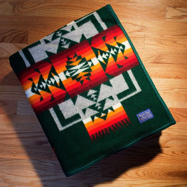 Pendleton 174 Blankets Forest Green Chief Joseph Pendleton