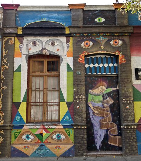 Street Art in Santiago, Chile by Cynthia Drescher via jaunted.com