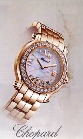 Chopard gold & diamond watch