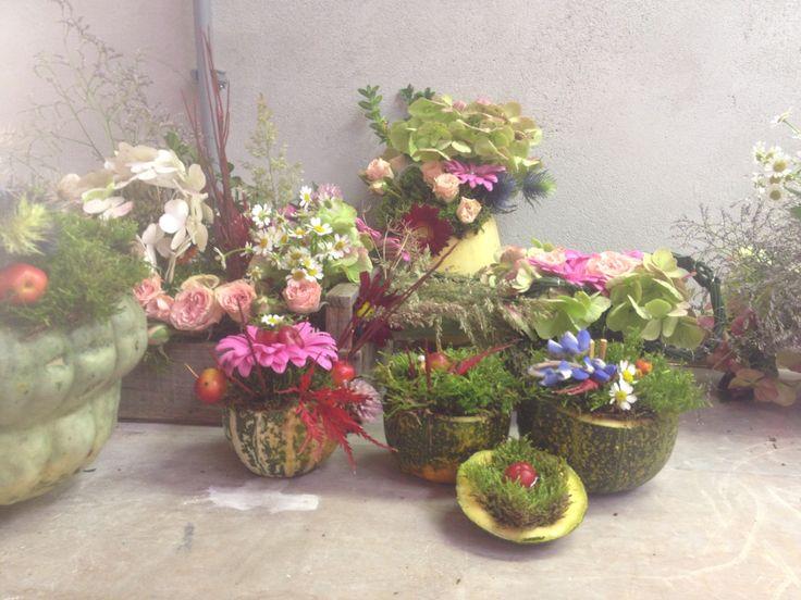Kleine bloemstukken door Tekensterrren