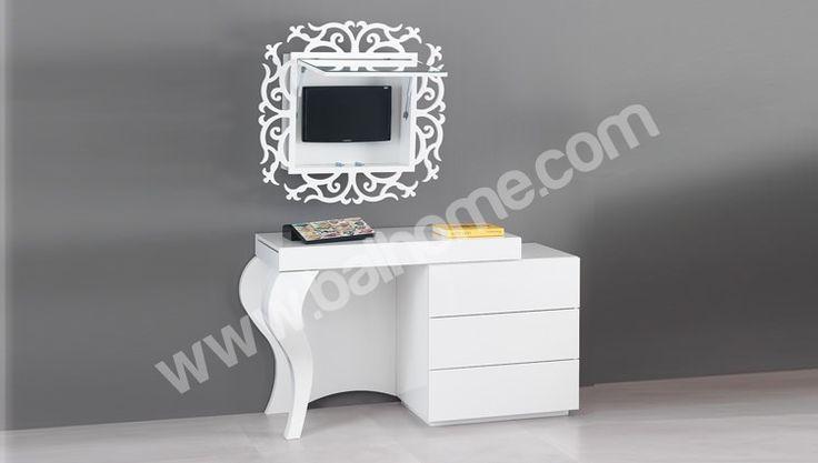 Luis Beyaz Yatak Odası Takımı Balhome Mobilya