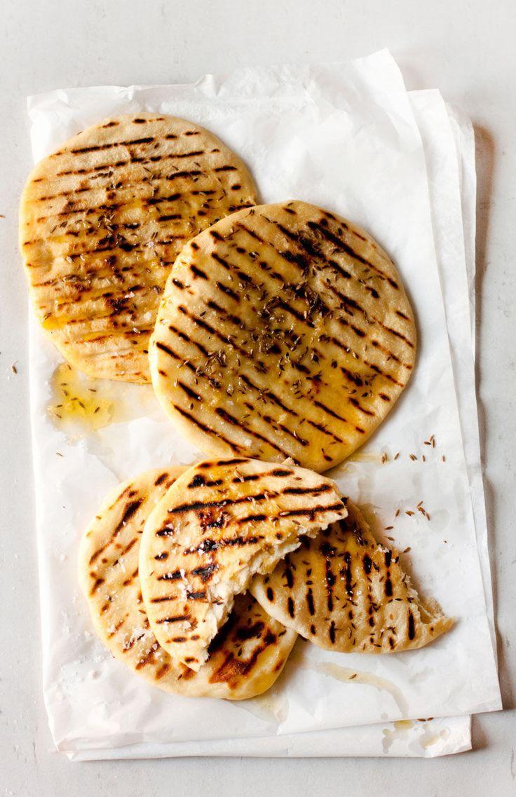 Toasted cumin seed flat breads (pitas)  |  Crush 34