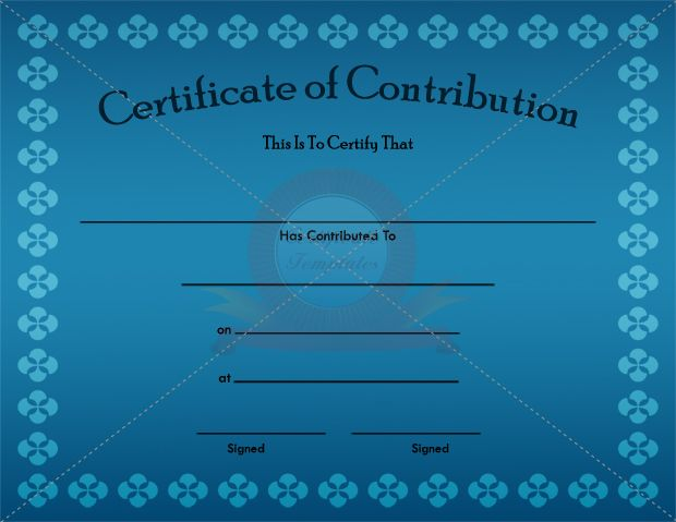 17 Best images about CONTRIBUTION CERTIFICATE TEMPLATES on – Donation Certificate Template