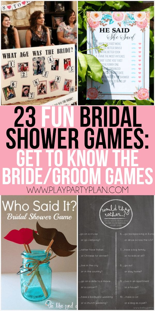 23 more funny bridal shower games that dont suck including everything from games for couples interactive games for large groups and