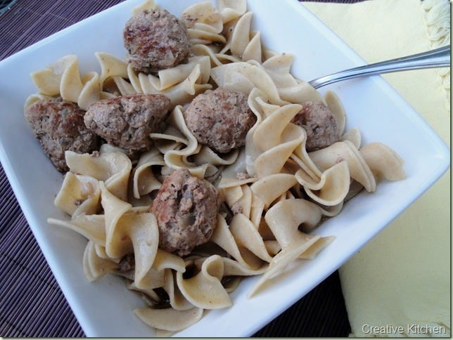 Hungarian Meatballs with noodles.....family pleaser!! | Food Blogger ...