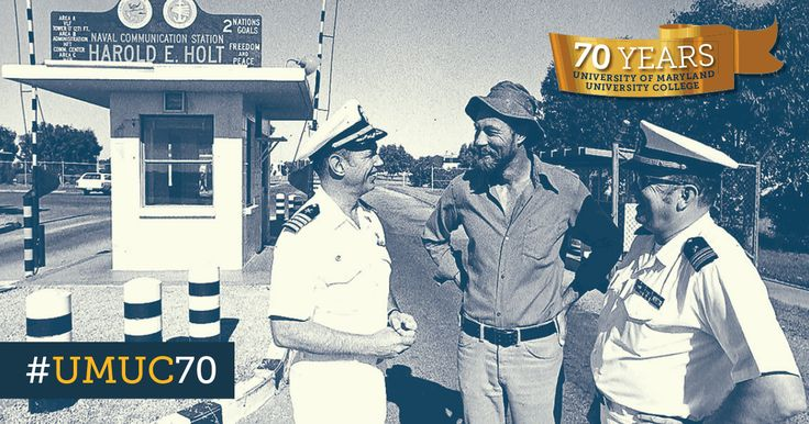 #ThrowbackThursday to 1977 when David Glaser was the first faculty member sent to Australia to teach at Harold B. Holt Naval Communication Station. #umuc70