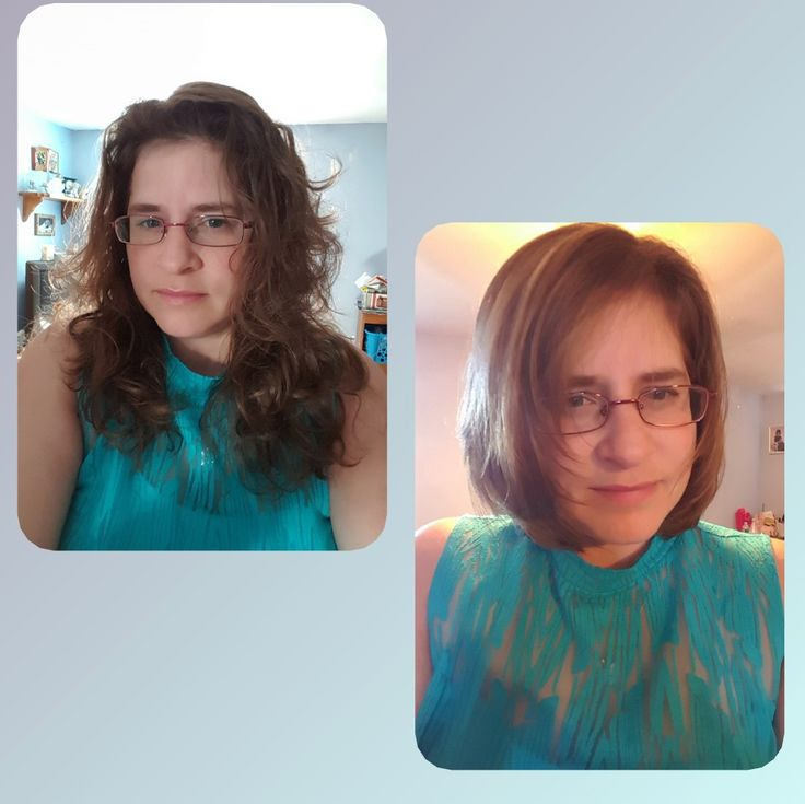 My new cut, blown straight, with bayalage highlights