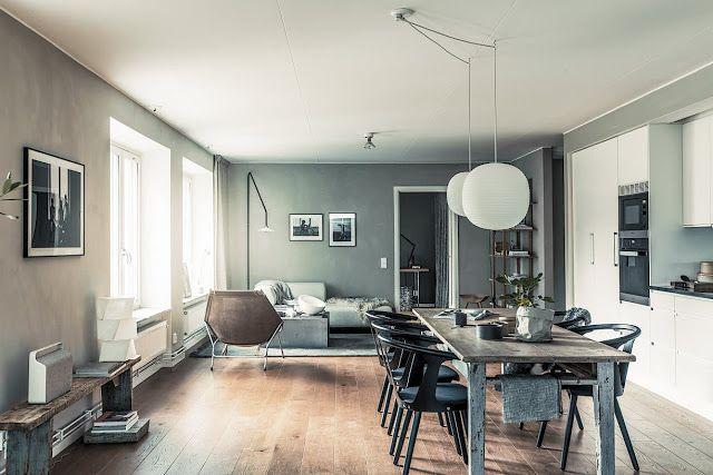 decordemon: Modern rooftop apartment in Sweden with an amazing terrace