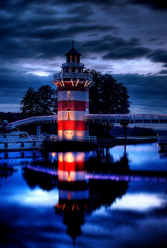 The lighthouse, Rheinsberg, Germany