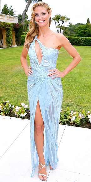 The Most Glam Night at Cannes | HEIDI KLUM | in Atelier Versace and Christian Louboutin sandals