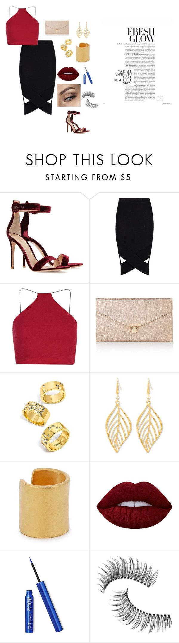 """""""Sem título #35"""" by laurenmello-473 on Polyvore featuring moda, Gianvito Rossi, Boohoo, Accessorize, BaubleBar, Steve Madden, Maya Magal, Lime Crime e Trish McEvoy"""