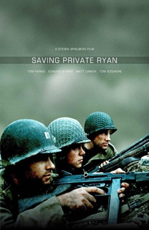 Saving Private Ryan. Director: Steven Spielberg. (1998).  Our family was very moved by this movie.  My father served in WWII.