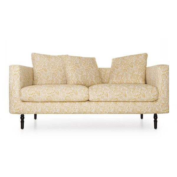 Moooi Boutique Jester Double Seater Sofa ($5,280) ❤ liked on Polyvore featuring home, furniture, sofas, yellow, moooi furniture, moooi, yellow sofa, moooi sofa and yellow couch