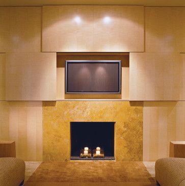 Hidden Television - contemporary - living room - dc metro - Studio Santalla, Inc