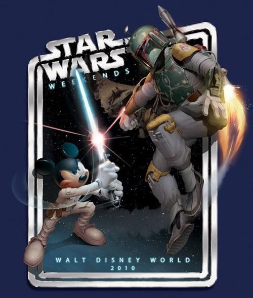 Jedi Mickey Mouse vs. Boba Fett