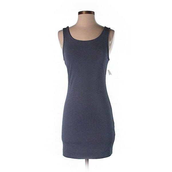 Bear Dance Casual Dress ($13) ❤ liked on Polyvore featuring dresses, dark blue, dark blue dress and deep blue dress