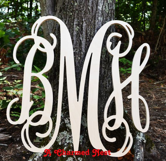 36 inch Vine Connected Wood Monogram Letters by ACharmedNest