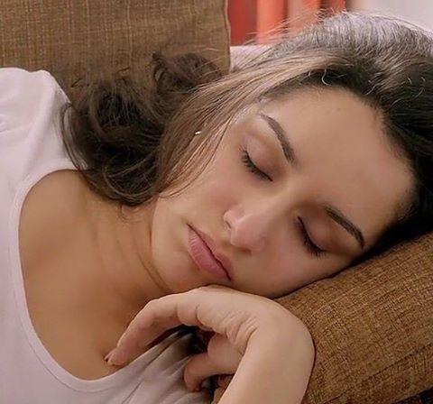 Good night sweety u look more cute while sleeping❤ shraddha kapoor