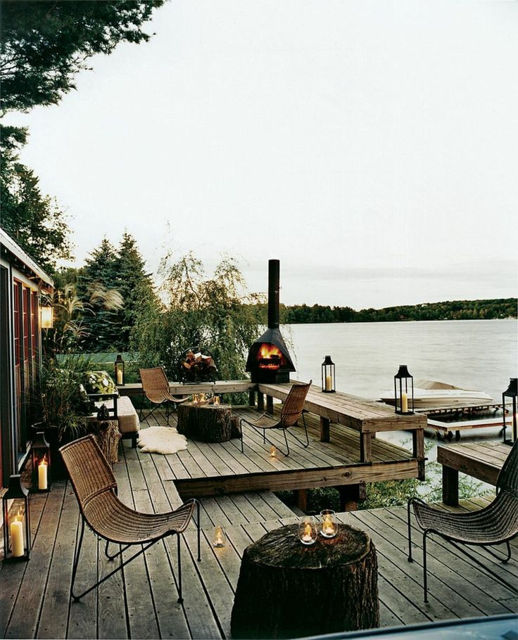 Outdoor entertainment ideas of fire pits