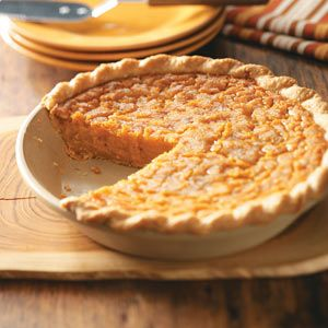 Southern Sweet Potato Pie Recipe -This recipe is very popular here in the South. It's a particular favorite at our house because we always have plenty of sweet potatoes in our garden. Try it with a dollop of whipped cream. —Bonnie Holcomb, Fulton, Mississippi