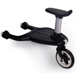 Bugaboo Comfort Wheeled Board for Strollers - Adapt your Bugaboo to your growing family's needs with this Comfort Wheeled Board. Attach this wheeled board to the chassis of your Bugaboo stroller in just two clicks and see how easy it is to roll along with two children. Sturdy construction keeps the wheeled board in place to guarantee a fun ride. Can also be folded away when not in use. Arriving instore this August!