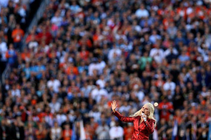 Lady Gaga Performs National Anthem:   Super Bowl 50: The Denver Broncos vs. the Carolina Panthers at Levi's Stadium on Feb. 7, 2016 in Santa Clara, Calif.