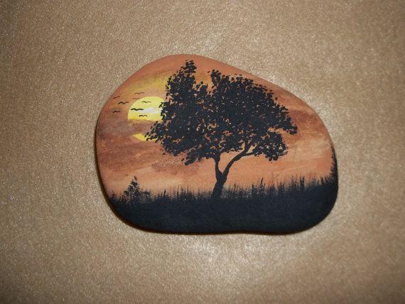 Puesta de sol sobre la roca por fidget09 en Etsy