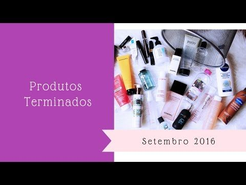"Produtos Terminados e o ""Objetivo terminados"" - Setembro 2016 Vídeo mostrando os produtos terminados no mês de setembro (2016). https://youtu.be/tTGWXqiXItg"