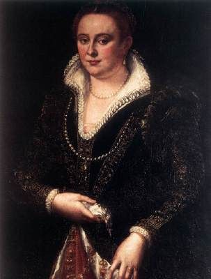 MACCHIETTI, Girolamo (b. ca. 1535, ?, d. 1592, Firenze)   Click! Portrait of Bianca Cappello  1579-83 Oil on panel, 99 x 73 cm Museo Nazionale di Palazzo Mansi, Lucca  Bianca Cappello (1548-1587) was the first lover and then second wife of Francesco I de' Medici. She died only one day after the death of Francesco I, both from a malarial fever they had contracted togeth