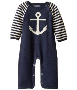 Toobydoo Nautical Jumpsuit (Infant) (Navy/White) Boy's Jumpsuit & Rompers One Piece