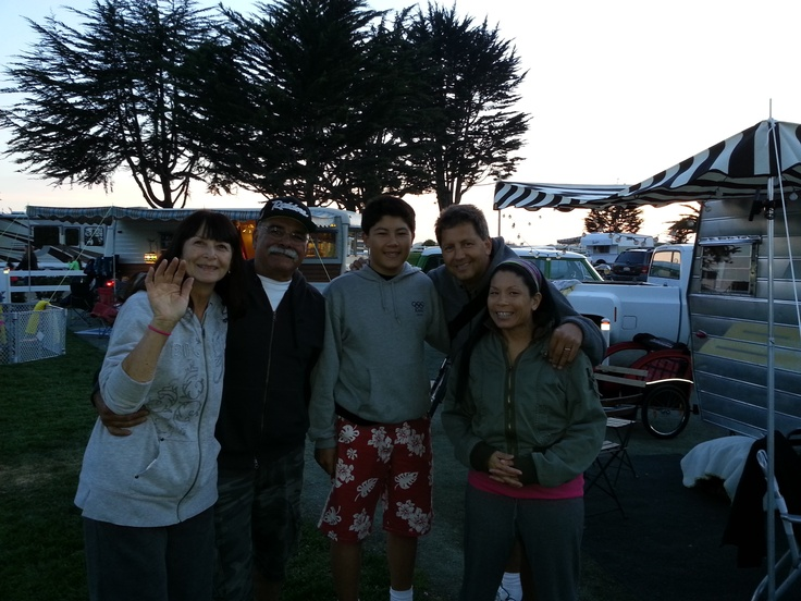 Hanging with the Moreno family, owners of four Aristocrat trailers, at the Pismo Beach Vintage Trailer Rally!