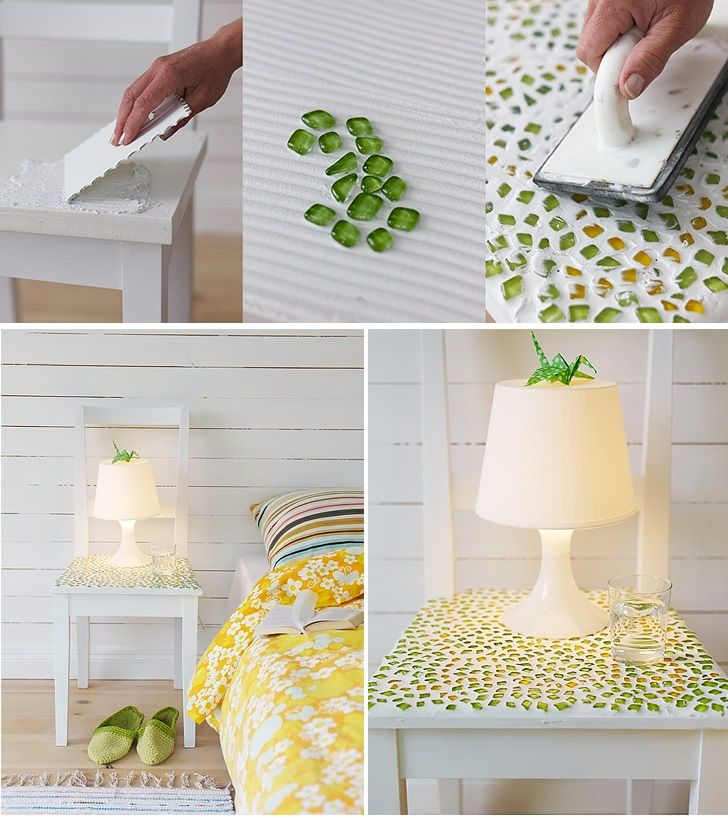 What do you say about DIY Mosaic Bedside Table
