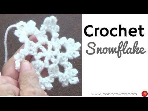 (30) Crochet Snowflake -Ornaments - Holiday DIY - Home Decor - YouTube