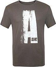 футболка, мужская, коричневая, с принтом