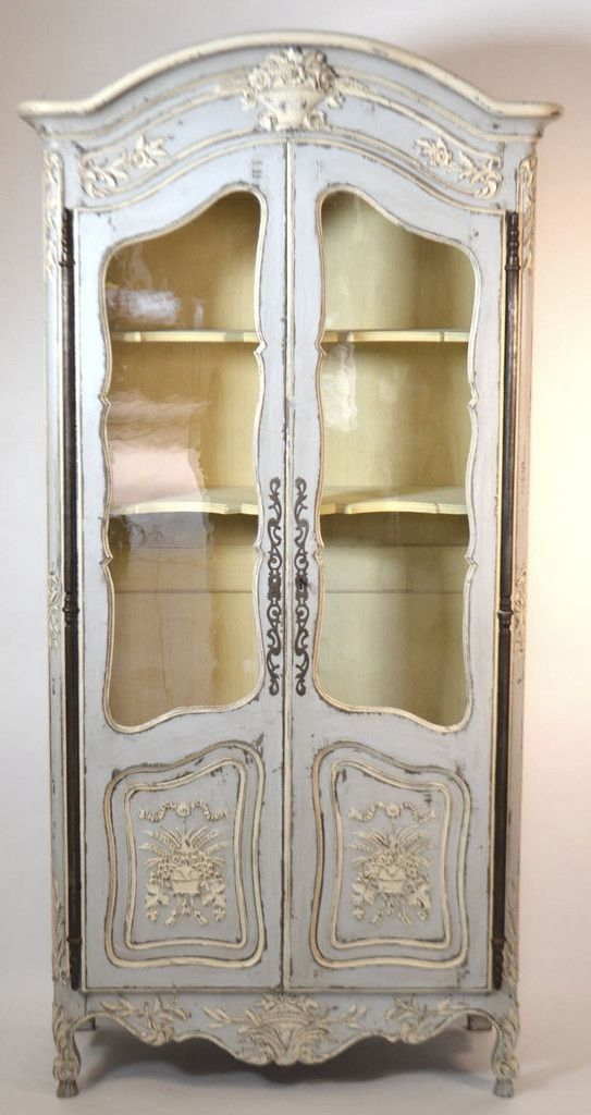 19th Century Louis XV Style Walnut Display Cabinet