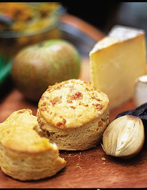 Savoury scones. Dead easy to make, and surprisingly nice with a good old Ploughman's lunch!