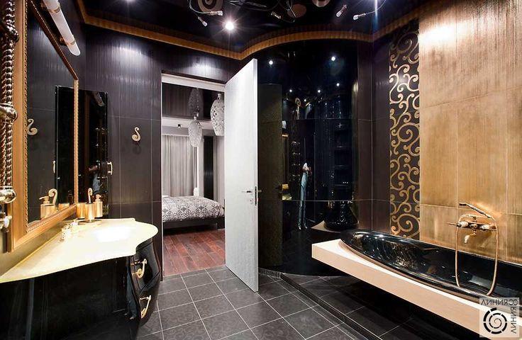Деко черный и золото | Дизайн интерьера квартиры на улице ...