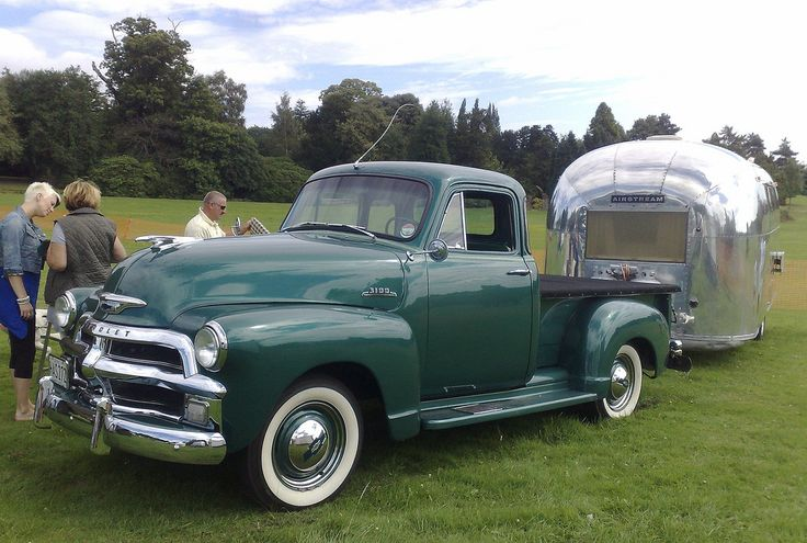 https://flic.kr/p/8nAuWd | Chevrolet 3100 Pick-up and Airstream Caravan Cannon Hall Car and Motorcycle Rally Barnsley Yorkshire | Thanks to jjamv for id.