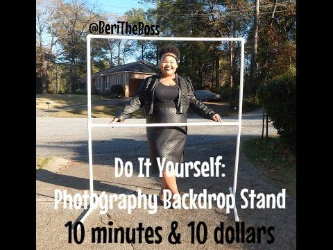 DIY : Photo Backdrop Stand, Less Than $10 Under 10 Minutes - YouTube
