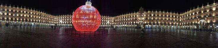 Plaza mayor de Salamanca en Navidad. España