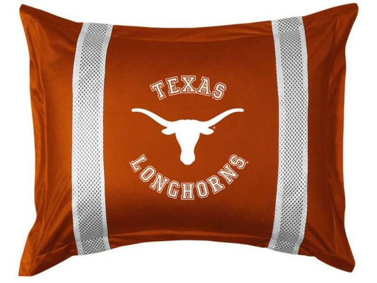 Texas Longhorns Sideline Sham by Sports Coverage - NCAA - Polyester