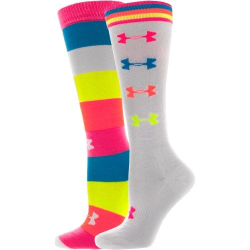 Under Armour Recur OTC Calf Socks.  Rock with some UA shorties and a sports bra.  Let er rippppp