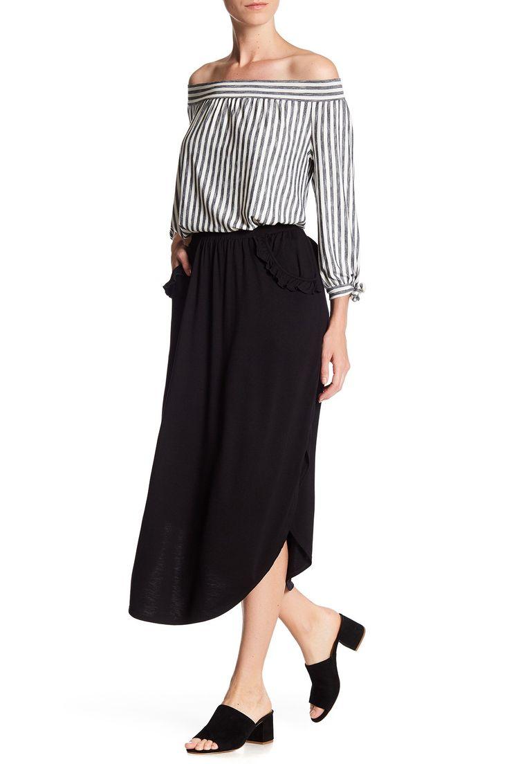 Ruffle Pocket Shirttail Hem Skirt by Max Studio on @nordstrom_rack